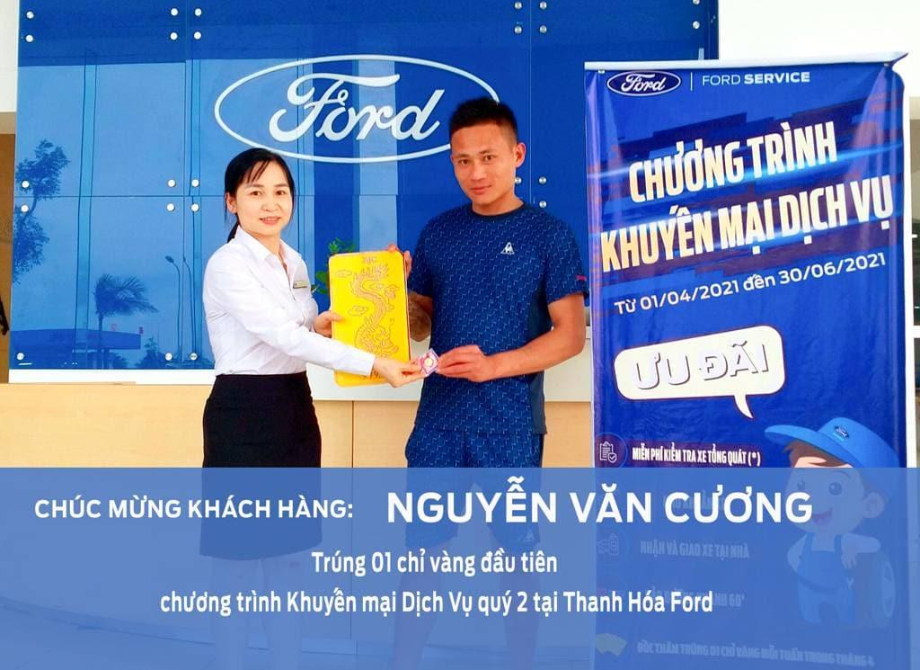 Khách hàng may mắn: Nguyễn Văn Cương trúng 01 chỉ vàng đầu tiên chương trình khuyến mại dịch vụ chào mừng đại lễ 30/4 -1/5