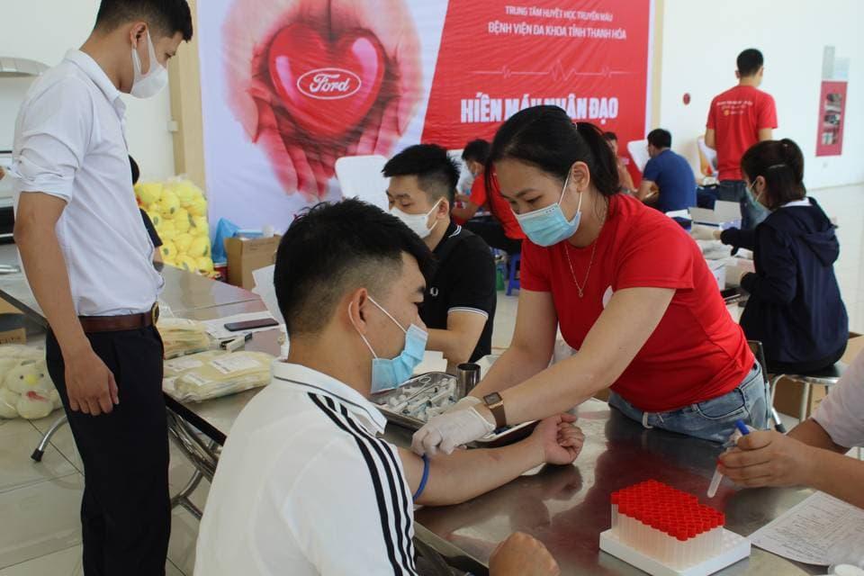 Ngày hội hiến máu nhân đạo tại Thanh Hóa Ford năm 2021