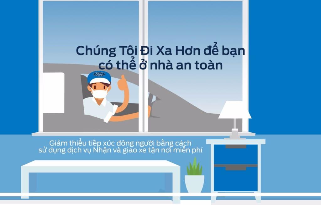Ford Việt Nam tiếp tục triển khai chương trìnhNhận và giao xe tận nơi miễn phí